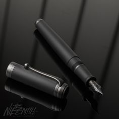 The new Aurora Talentum matte black fountain pen features a cap and body made of satin resin, complemented perfectly with satin ruthenium trims and a black-plated 14 karat gold nib. The satin look on the resin cap and barrel is achieved by applying a unique texture, which adds a lovely feel in the hand, similar to that of the 88 Satin Black. The black coating on the 14k gold nib is the same as that seen on the Aurora 88 Nero Demo. It's a deep, dark black finish that rounds out the pen per...