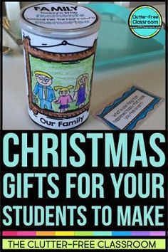 CHRISTMAS GIFTS STUDENTS MAKE FOR PARENTS Kids often make holiday presents for their family. This creative Dinner Conversation Starter gift makes student-made gifts useful. Moms, dads, & grandparents love this quick, simple, & creative keepsake. Teachers like that it is cheap & easy to make & is meaningful. If you're tired of handprint crafts, these ideas are for you. They are also perfect for Mothers Day, Fathers Day, Gr&parents Day & as gifts for parent volunteers at the end of the year.