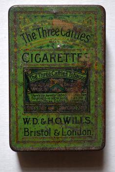 Three Caftles cigarette tin