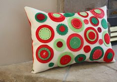 Guest Blogger - Diary of a Quilter - Felt Circles Pillow