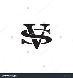 letter S and V monogram logo