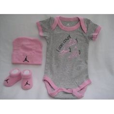 """Nike Jordan Infant New Born Baby 0-6 Months Lap Shoulder Bodysuits, Booties and Cap With """"Air Jordan"""" Sign PCS Set New Black Baby Girls, New Baby Girls, Baby Love, Cute Outfits For Kids, Baby Boy Outfits, Baby Jordans, Baby Layette, Baby Girl Shoes, Cute Baby Clothes"""