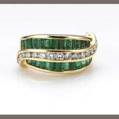 An emerald and diamond ring, Charles Krypell