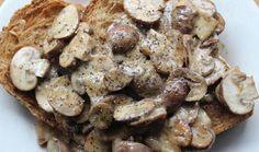 Emma's Super Easy Cheesy Mushrooms on Toast Veggie Recipes, Vegetarian Recipes, Healthy Recipes, Mushroom Toast, Stuffed Mushrooms, Stuffed Peppers, Food Diary, Brunch Recipes, Super Easy