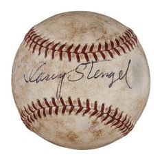 1960's Casey Stengel Single Signed Game Used American League Baseball COA - JSA Certified - MLB Game Used Baseballs *** See this great product.