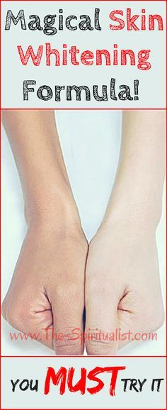Ladies, You MUST Try This Miraculous Skin Whitening Formula...!!!