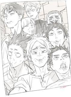 Haikyuu Manga, Haikyuu Funny, Haikyuu Fanart, Haikyuu Ships, Ushijima Wakatoshi, Volleyball Anime, Haikyuu Wallpaper, Kagehina, Kenma