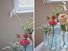 Blue Glass Tinge Floral