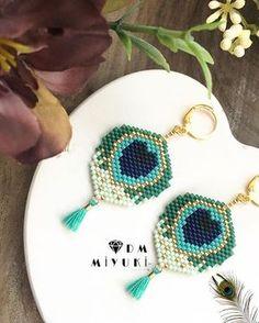435 Likes, 2 Comments – Miyuki_Design ( … Seed Bead Jewelry, Seed Bead Earrings, Heart Jewelry, Beaded Jewelry, Beaded Bracelets, Seed Beads, Seed Bead Patterns, Bijoux Diy, Tutorials