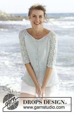 Excited to share the latest addition to my #etsy shop: Summer Cardigan with 3/4 lace sleeves https://etsy.me/2HBtJK5 #clothing #women #sweater #handmade #merino #beachwear #summerclothes #knits #dropsdesign #GGLUXURYKNITS #fashion #romantic #summer #cardigan #jacket