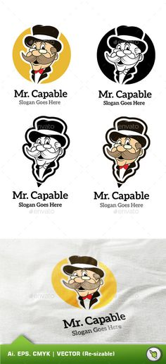 Logo Mr Capable Template	 Logo Design Template Vector #logotype Download it here: http://graphicriver.net/item/logo-mr-capable-template/9755259?s_rank=730?ref=nexion