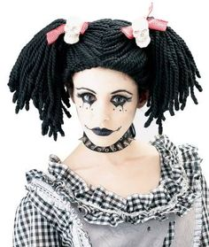 This is a very childish voodoo doll/girl in my opinion with a slight gothic…