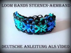 ▶ Loom Bands mit Rainbow Loom deutsch - Sternen-Armband, Starburst Bracelet (deutsche Anleitung) - YouTube