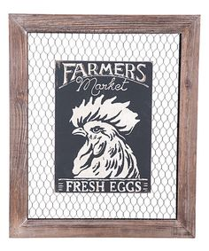 Look at this #zulilyfind! 'Farmers Market' Rooster Wall Décor by Foreside #zulilyfinds