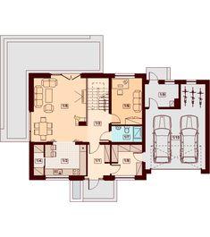 Rzut DN KENDRA 2M CE Malm, House Plans, Floor Plans, How To Plan, Houses, House Floor Plans, Home Floor Plans, Home Plans