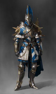 ArtStation - Warden crusader_unicorn set, Jonghwan Lee