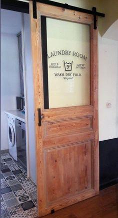 Laundry Room Doors, Laundry Decor, Farmhouse Laundry Room, Laundry Room Storage, Laundry Closet, Laundry Table, Laundry Shelves, Laundry Signs, Basement Storage