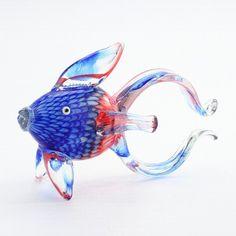 Diamond Star Glass Glass Fish Figurine