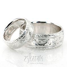 Matching wedding bands love that idea... and these are beautiful!!!!