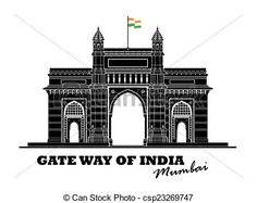 Vector - Gate way of India - stock illustration, royalty free illustrations, . Cool Headboards, London Drawing, Gate Way, Mumbai City, India Gate, Pastel Portraits, Free Cartoons, Royalty Free Pictures, Art Icon