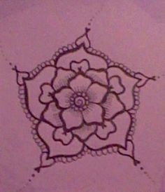 my own design on purple paper