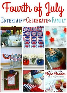 4th of July Ideas   Find simple and creative idea for planning your fourth of July celebration. TodaysCreativeLife.com Fourth Of July, Happy 4 Of July, Decor Crafts, Diy Crafts, Memorial Day, Table Decorations, Ideas, Party Planning, Memories