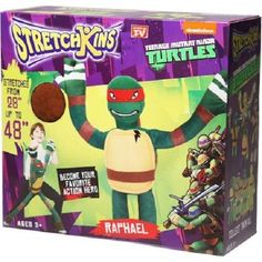 "Stretchkins Raphael Teenage Mutant Ninja Turtles Stretch Doll 28"" to 48"" NEW NIB #Nickelodian"