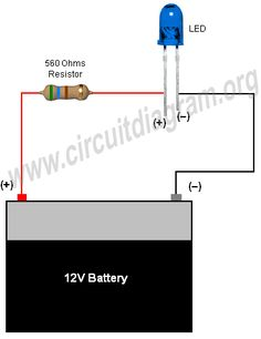 Simple Basic LED Circuit | Circuit Diagram
