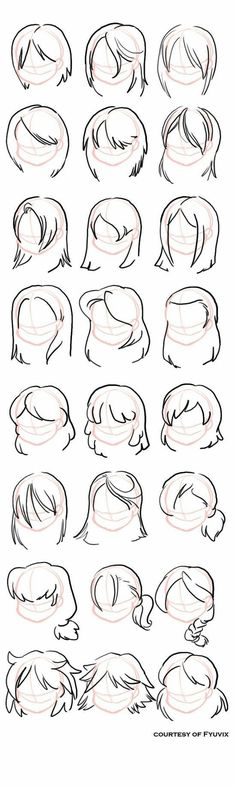 Hairstyles- straight by =fyuvix: design reference, drawing reference, hair reference, Drawing Lessons, Drawing Techniques, Drawing Tips, Drawing Ideas, Drawing Art, Hair Styles Drawing, Sketch Drawing, Anatomy Drawing, Sketch Ideas