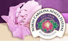 Wed. Apr 11 - Sun. Apr 15  65th Annual North Carolina Azalea Festival Wilmington, NC  North Carolina Azalea Festival  Wilmington, NC - The North Carolina Azalea Festival has showcased the greater Wilmington community and provided first class entertainment and significant economic impact for the past 55 years. Events include concerts, parade, Street fair, fireworks, garden tours, home tours, Queen's coronation, celebrities