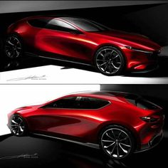 Learn how to draw a car using our step by step tutorials. Sports cars, classic cars, imaginary cars - we will show you how to draw them like the pros. Car Design Sketch, Car Sketch, Automobile, Conceptual Drawing, Exterior Rendering, Mazda 3, Car Drawings, Cool Sketches, Transportation Design