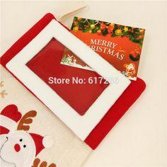 """Бесплатная доставка прекрасный 3 шт./лот Рождественские носки с фото Рамка 18 """"Санта Клаус снеговик оленей подарок носок Рождество Носки"""