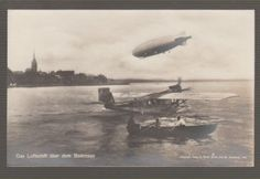 34499-OLD-POSTCARD-THE-ZEPPELIN-OVER-LAKE-CONSTANCE-GERMANY