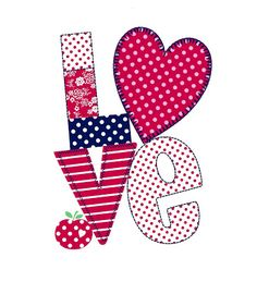 All about surface pattern ,textiles and graphics: Valentines Decoupage, Applique Patterns, Print Patterns, Love Wallpaper, Love Images, Love Valentines, All You Need Is Love, Surface Pattern, Surface Design