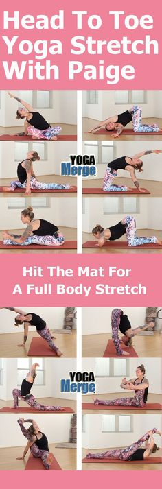 Hit the mat with Paige for a yoga video to help to get a full body yoga stretch! Full preview on the site! Online yoga classes for your home yoga practice!