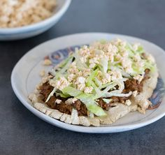 Vegan Slow Cooker Mole Mushroom Taco Filling, Huaraches and My Trip to Cancun @kathy_hester #TACOboutTLEG