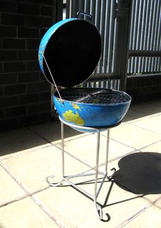 World BBQ Outside. The World BBQ is a symbol of human consumption of natural resources.