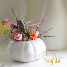 homework: Celebrations: spring garden pumpkin