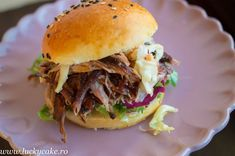 Pulled pork burger - Lucky Cake