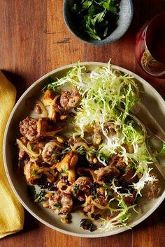 Catalan Sausage With Mushrooms