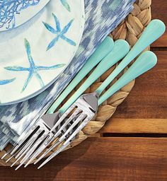 12-Piece Enamel Flatware Set