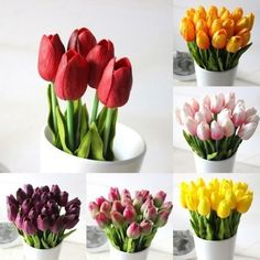 1 Pcs PU Tulip Artificial Wedding Party Decoration Home Design Bouquet Flowers. Features:  1.Comes with 1 tulip flowers and leaves.Stem with steel wire; easy to bend and adjust. 2.Easy to clean,  easy to match other colors. 3.Gorgeous flower color,  Chic shape,  great bouquet for your wedding. 4.Can use for a long time. 5.Great present for the friend who allergic to pollen. 6.The stem can be shortened by means of cutting pliers. 7.Fits for party,  wedding,  art hall,  office,  shop,  home…