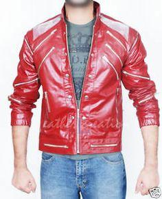 Michael Jackson Beat It Leather Red Jacket & Free Billie Jean  - http://www.michael-jackson-memorabilia.com/?p=3598