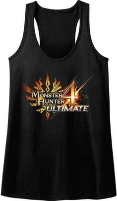 Monster Hunter 4 Ultimate Capcom Video Game Womans Tank / Sleep Shirt