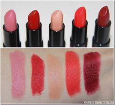 Rimmel's Kate Moss Matte Lipstick : L-R 101, 111, 113, 110, 107