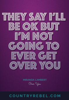 Country Music Lyrics - Quotes - Miranda Lambert Quotes - Over You Lyrics and Country Music Video Youtube http://countryrebel.com/blogs/videos/16997079-blake-shelton-miranda-lambert-over-you-the-voice-duet-live-video