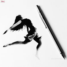 These striking monochromatic images are no larger than a pen.