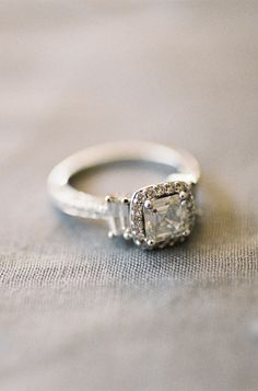 Vintage engagement ring #rings #wedding Read More: http://www.stylemepretty.com/2014/10/10/intimate-wedding-ceremony-in-california/
