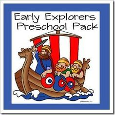 {FREE} Early Explorers Preschool Pack - great way to introduce preschool and kindergarten age kids to early explorers