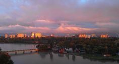 river and sunset sky